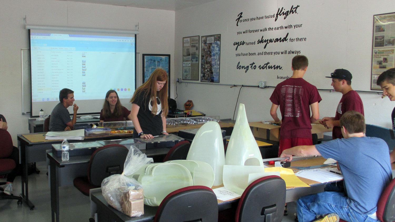 aircraft assembly classroom